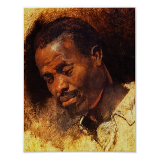 Head of a Negro by Rubens Poster