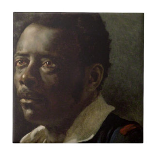 Head of a Negro Tile