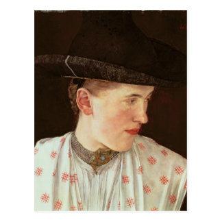 Head of a Peasant Girl, c.1880 Postcard