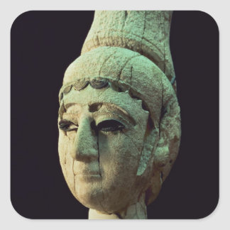 Head of a Prince or Princess of Ugarit (ivory) (se Square Sticker