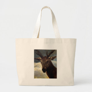 Head of a Stag by Diego Velazquez Large Tote Bag