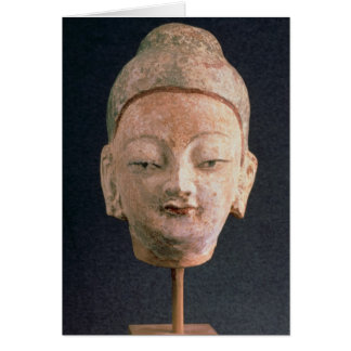 Head of a statue of Buddha, from Bezeklik Card