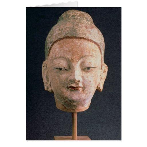 Head of a statue of Buddha, from Bezeklik Cards