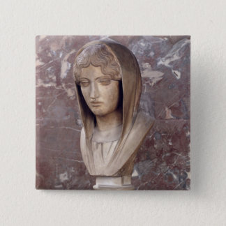 Head of a woman known as Aspasia of Miletos 2 Inch Square Button