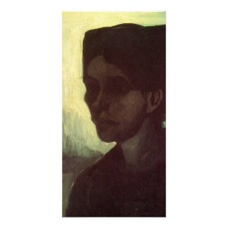 Head of a Young Peasant Woman  by van Gogh Photo Greeting Card