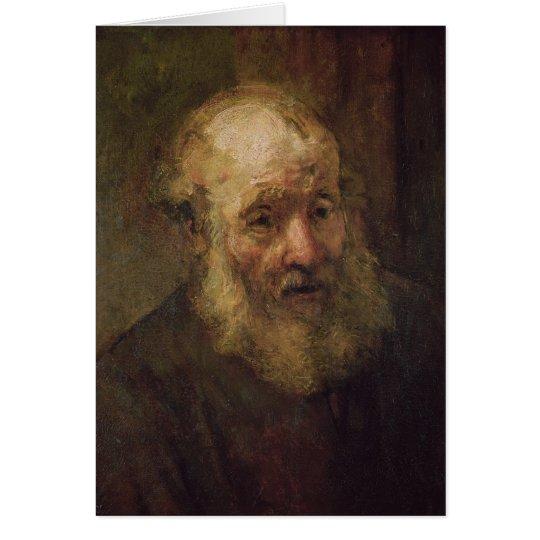 Head of an Old Man, c.1650 Card