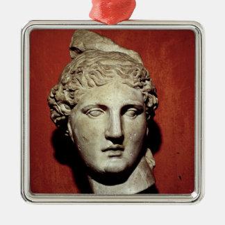 Head of Apollo from Ephesus Metal Ornament