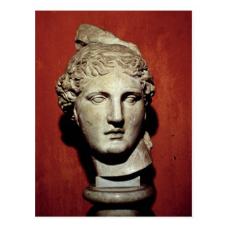 Head of Apollo from Ephesus Postcard