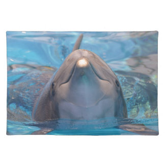 Head of  bottlenose dolphin placemat