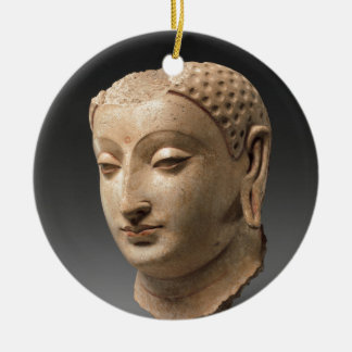 Head of Buddha - 5th–6th century Ceramic Ornament
