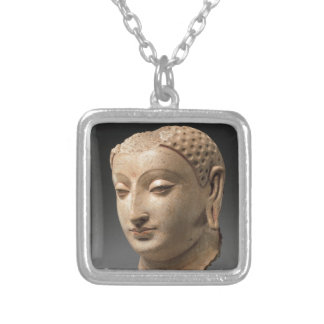 Head of Buddha - 5th–6th century Silver Plated Necklace