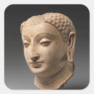 Head of Buddha - 5th–6th century Square Sticker