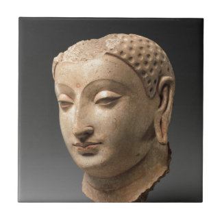 Head of Buddha - 5th–6th century Tile