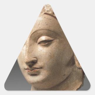 Head of Buddha - 5th–6th century Triangle Sticker