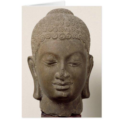 Head of Buddha, from Vat Romlok Greeting Card