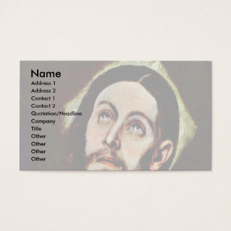 Head Of Christ By Greco El Business Card