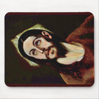 Head Of Christ By Greco El Mouse Pad