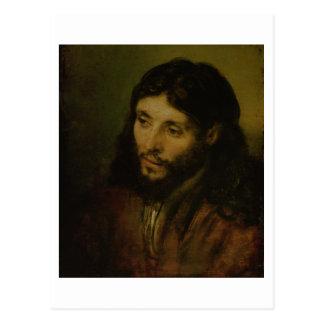 Head of Christ, c.1648 (oil on canvas) Postcard