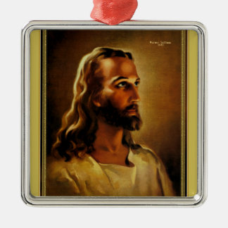 Head of Christ Jesus of Nazareth by Warner Sallman Metal Ornament