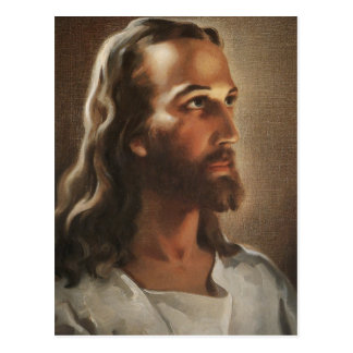 Head of Christ Jesus of Nazareth by Warner Sallman Postcard