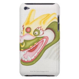 Head of colourful papier-mache dragon, side iPod Case-Mate case