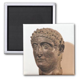 Head of Constantine the Great Square Magnet