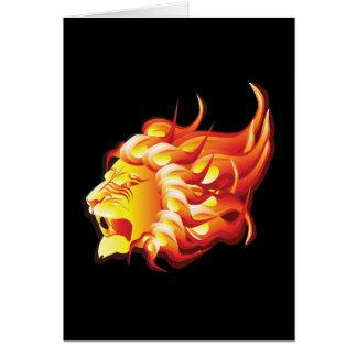 Head of fire lion card