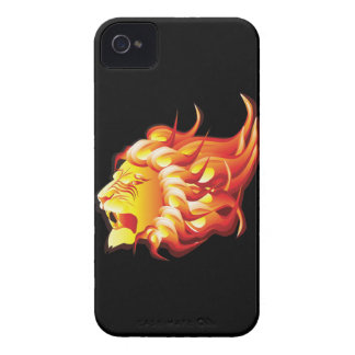 Head of fire lion Case-Mate iPhone 4 case