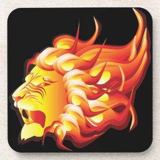 Head of fire lion coaster