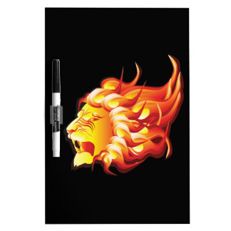 Head of fire lion dry erase board