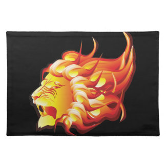 Head of fire lion placemat