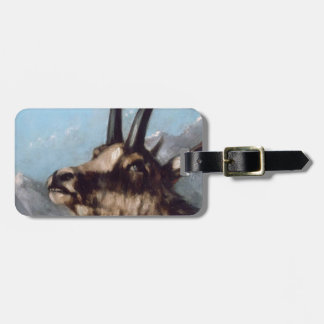Head of Gazelle by Gustave Courbet Luggage Tag