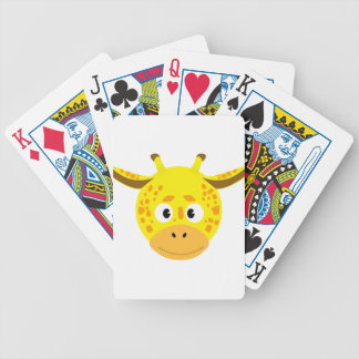 Head of Giraffe Bicycle Playing Cards