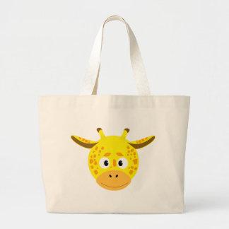 Head of Giraffe Large Tote Bag