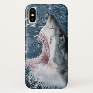 Head of Great White Shark iPhone X Case
