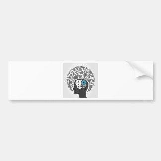 Head of hands bumper sticker