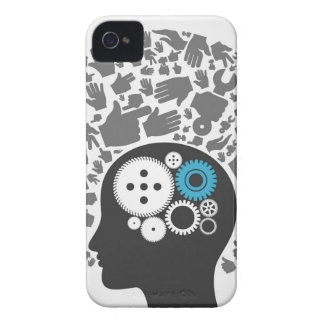 Head of hands iPhone 4 cover