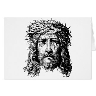 Head of Jesus Christ Card