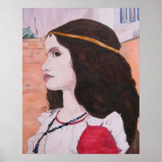Head of Juliet study poster