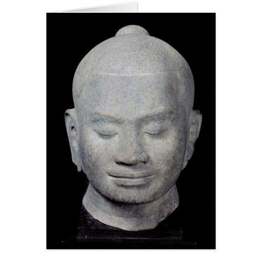 Head of King Jayavarman VII  Bayon Style Card