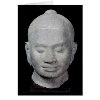 Head of King Jayavarman VII  Bayon Style Greeting Card