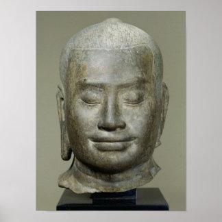 Head of King Jayavarman VII Poster
