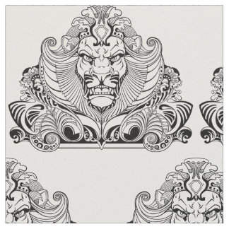 head of lion fabric