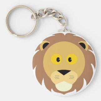 Head of Lion Keychain