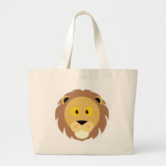 Head of Lion Large Tote Bag