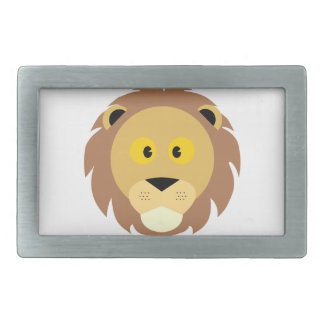 Head of Lion Rectangular Belt Buckle