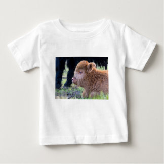 Head of lying Brown newborn scottish highlander Baby T-Shirt