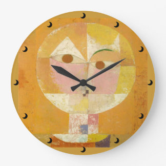 Head of Man Going Senile Clock in 3 sizes