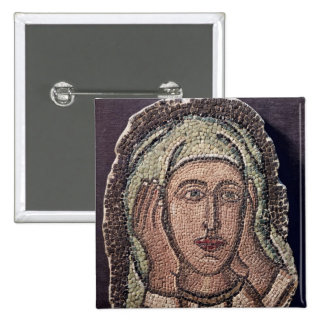 Head of one of the Holy Women, from Turkey 2 Inch Square Button