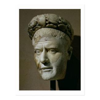 Head of Philip the Arab, Roman Emperor (244-249) ( Postcard